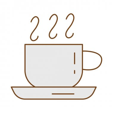 Tea hot in ceramic cup fill style icon vector illustration design icon