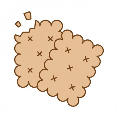 Sweet cookies fill style icon vector illustration design icon