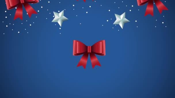 Boldog karácsonyt minta csillagok és íjak