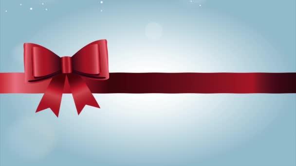 Šťastné veselé vánoční přání s mašlí