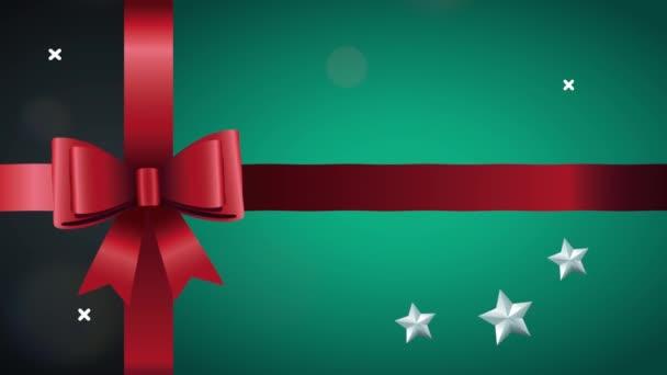 boldog boldog karácsonyi lapot szalaggal íj