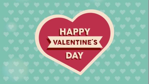 Šťastný Valentýn rytiny v kartičce srdce