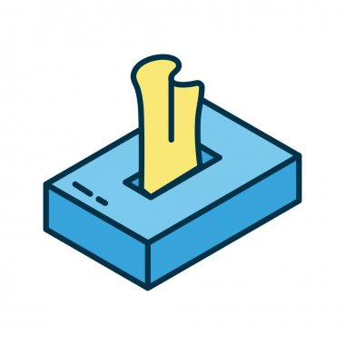 Damp clothes box flat style icon vector illustration design icon