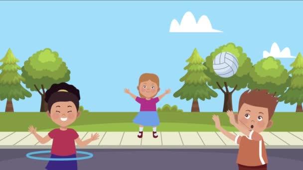 kisgyerekek gyakorló tevékenységek az utcai karakterek