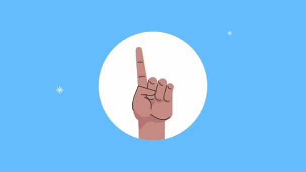 Hand Mensch erstes Signal Animation