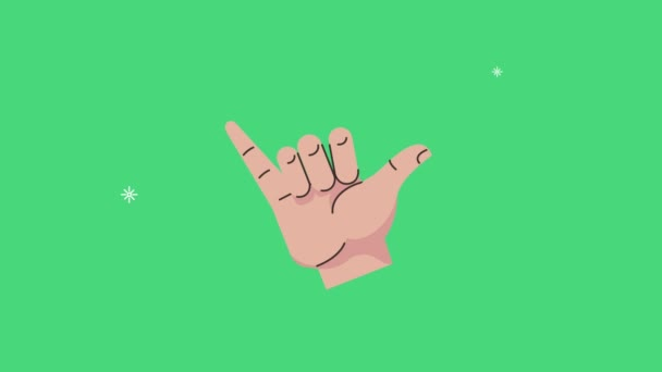 Hand Mensch sei cool Signal Animation