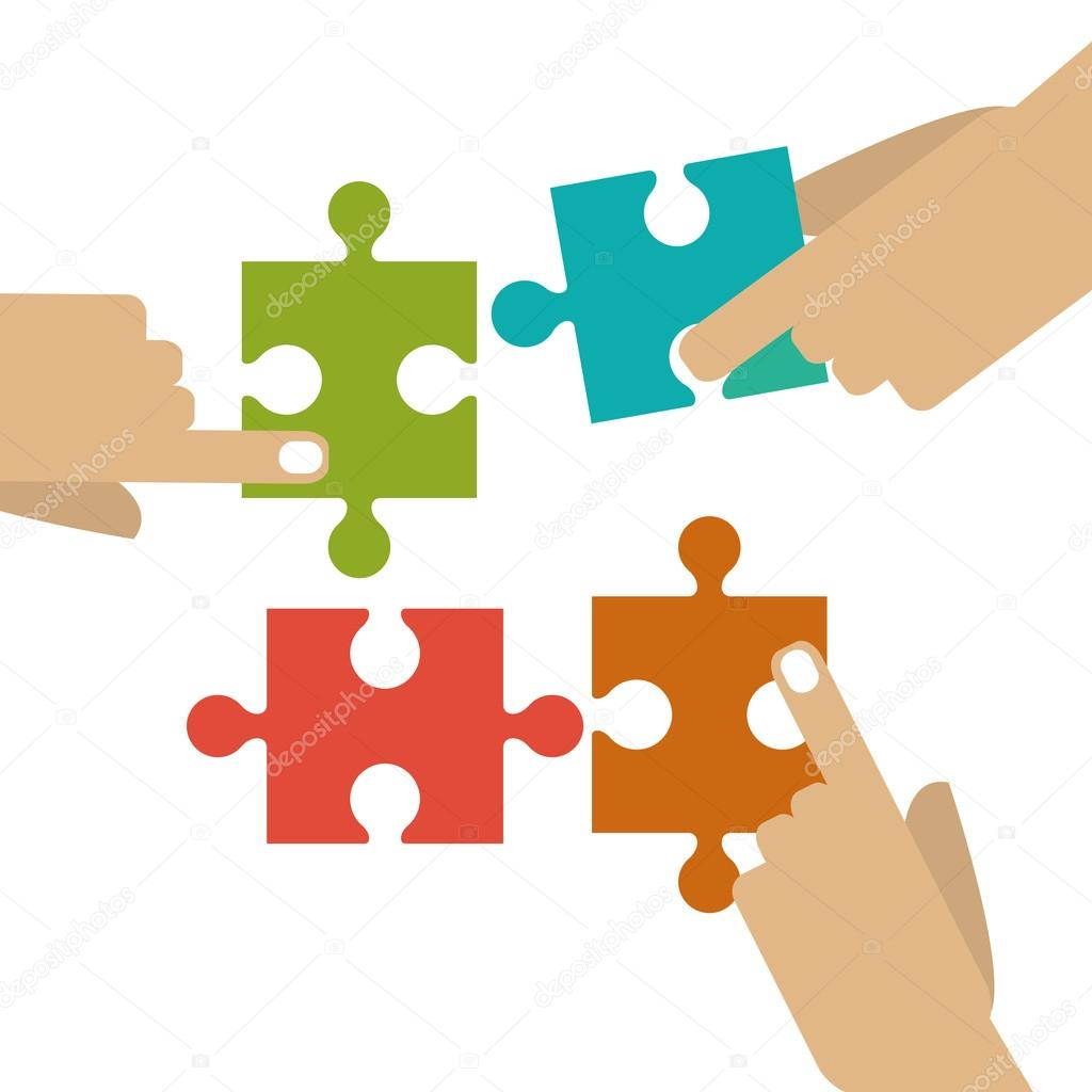 Puzzle de dessin vectoriel image vectorielle jemastock - Puzzle dessin ...
