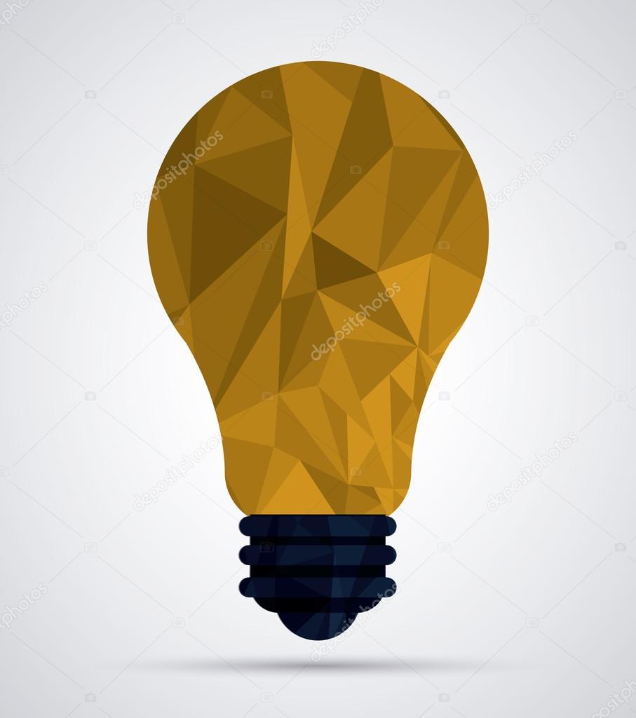 Projeto de lâmpada Low Poly — Vetores de Stock © jemastock