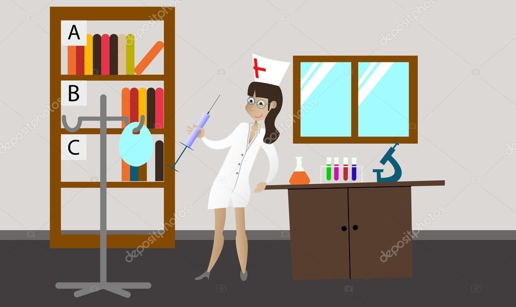 Oggetti Per Ufficio : Medico in camice bianco nel posto di lavoro con attrezzature mediche