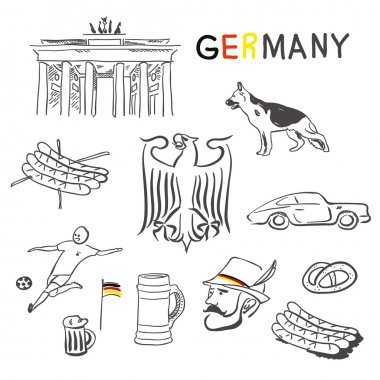 Germany symbols vector set
