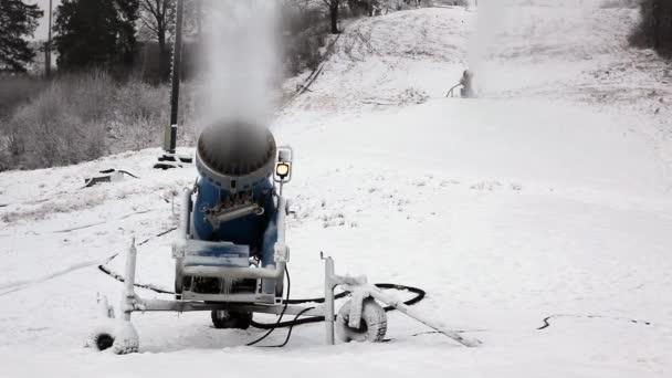 Zasněžovací systém v práci