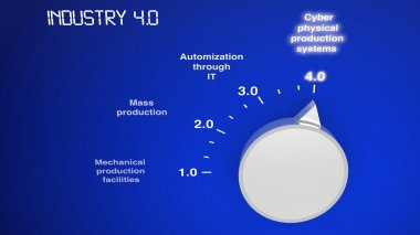 Industry 4.0 concept illustration infographic