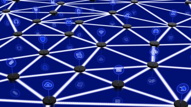 Network of internet of things with different nodes