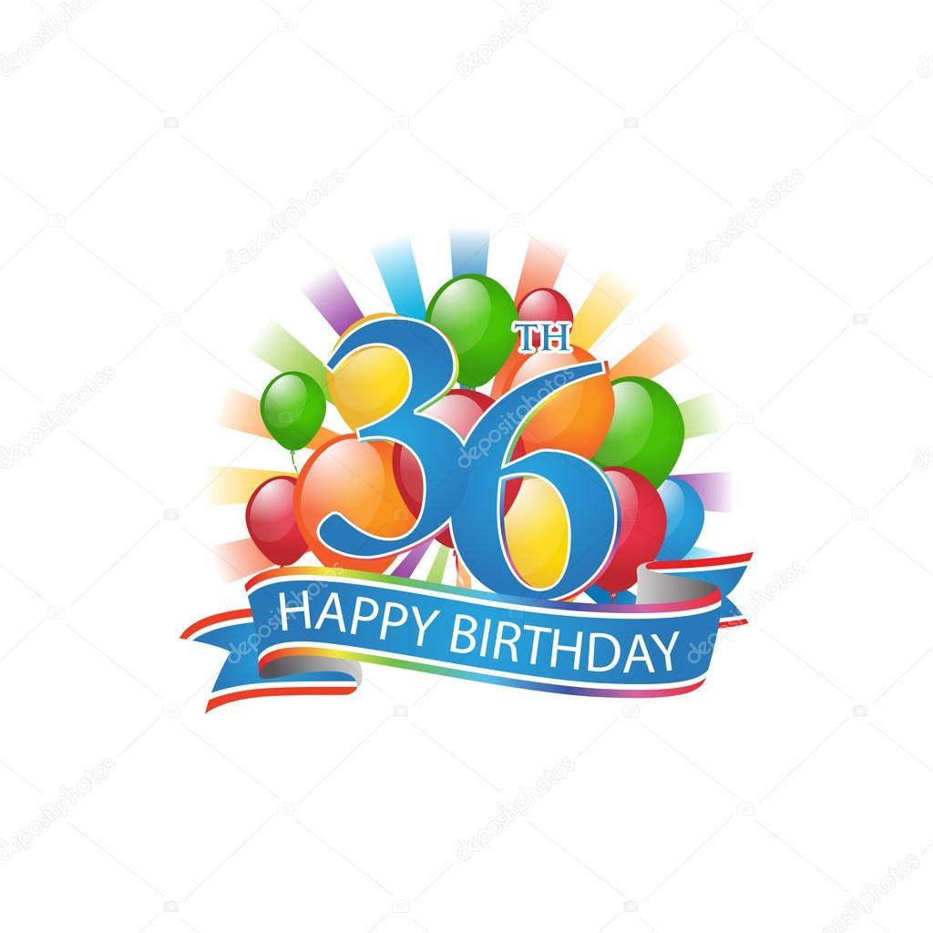 36 Bunte Alles Gute Zum Geburtstag Logo Mit Luftballons Und