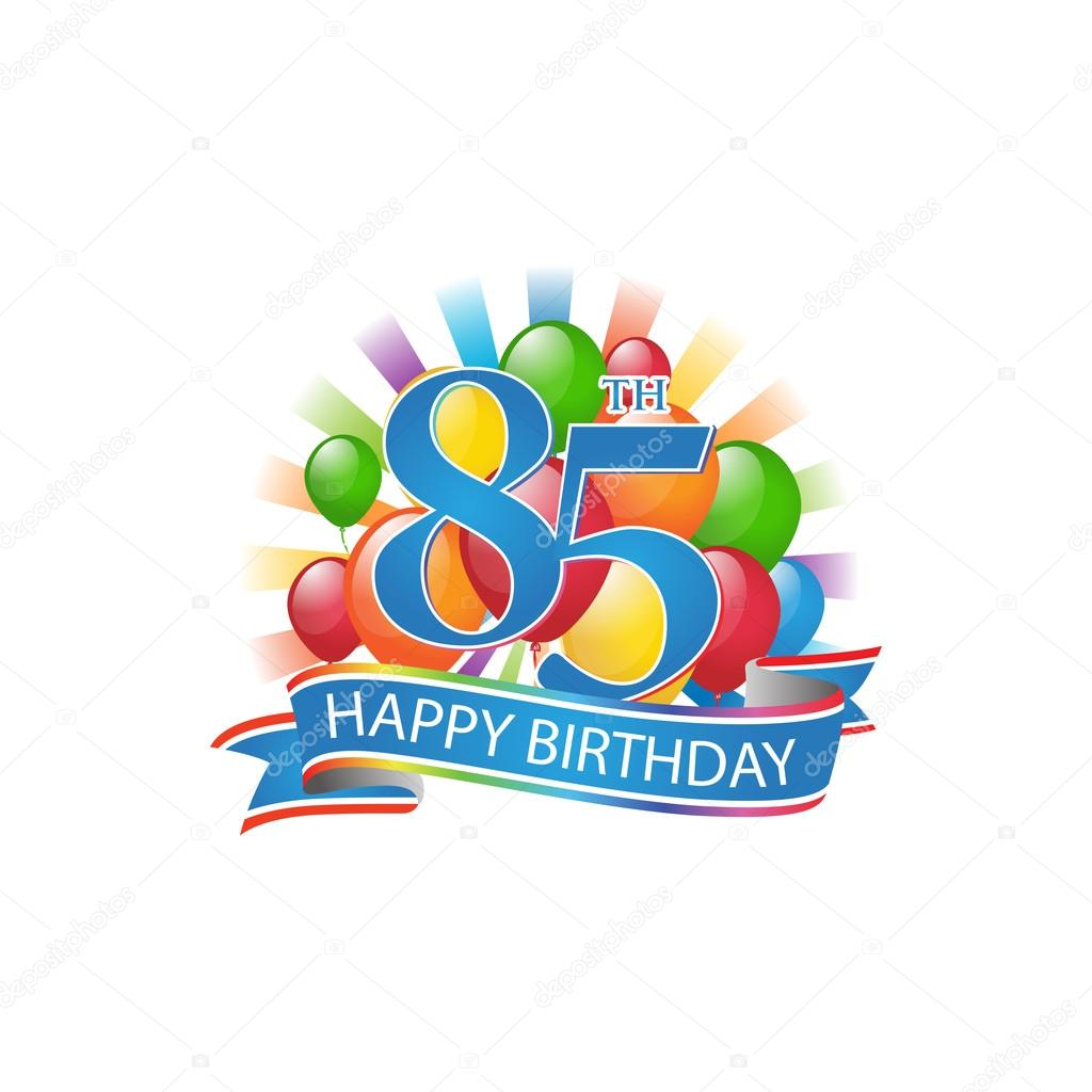 85th Happy Birthday Event Logo Template