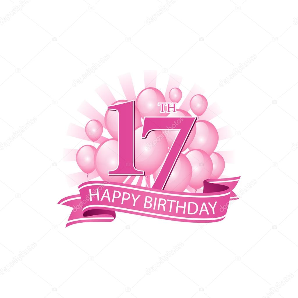 17th happy birthday event logo template. — Vector by ariefpro