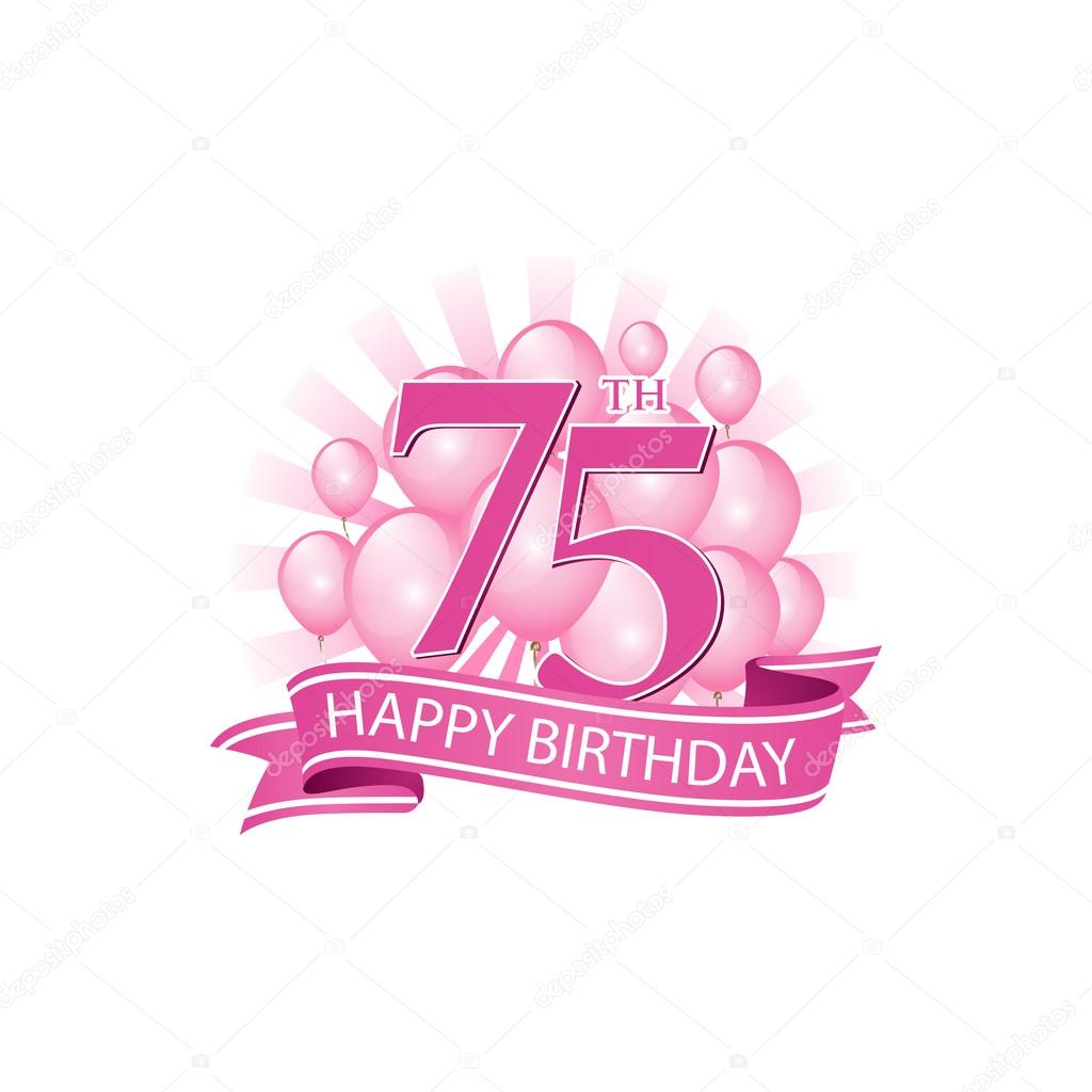 75th Happy Birthday Event Logo Template