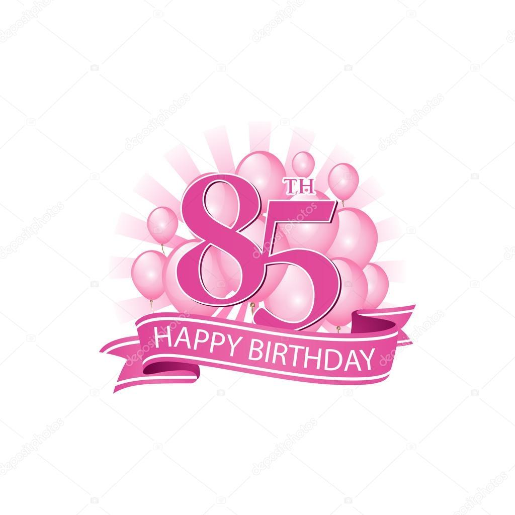 85th Happy Birthday Event Logo Template
