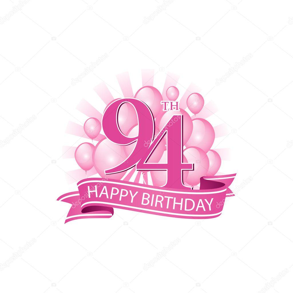 94th Happy Birthday Event Logo Template