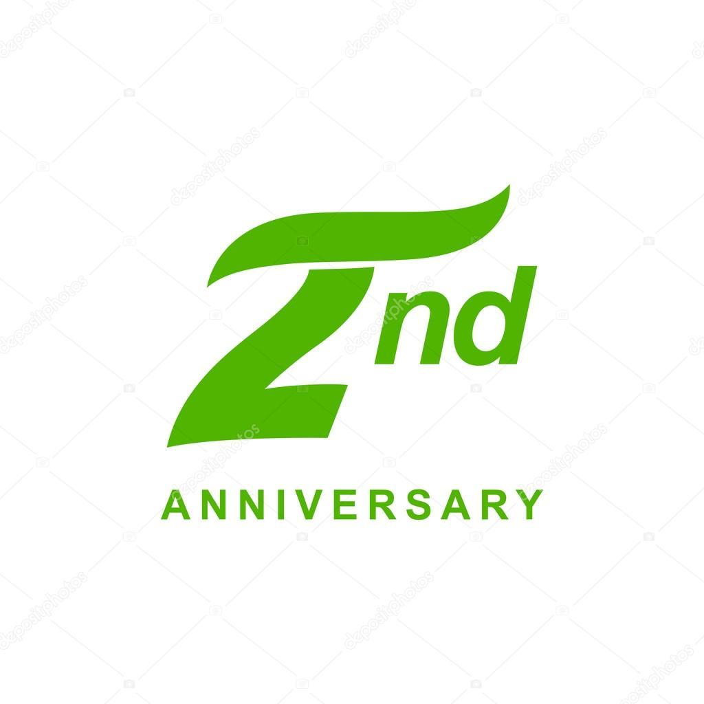 Nd anniversary wave logo green stock vector � ariefpro