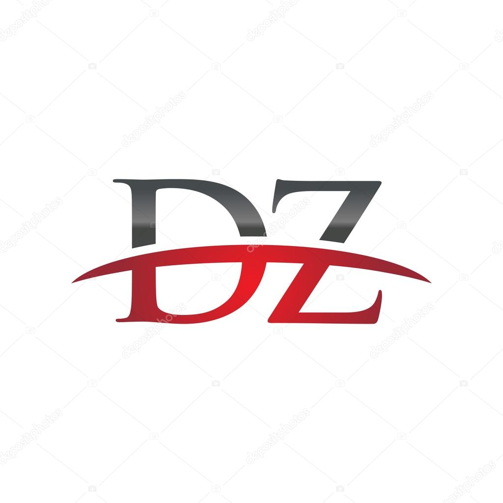 Dz >> Initial Letter Dz Red Swoosh Logo Swoosh Logo Stock Vector
