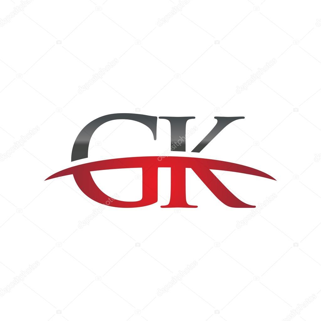 initial letter gk red swoosh logo swoosh logo stock vector rh depositphotos com gsk logo gk logistics rancho cucamonga