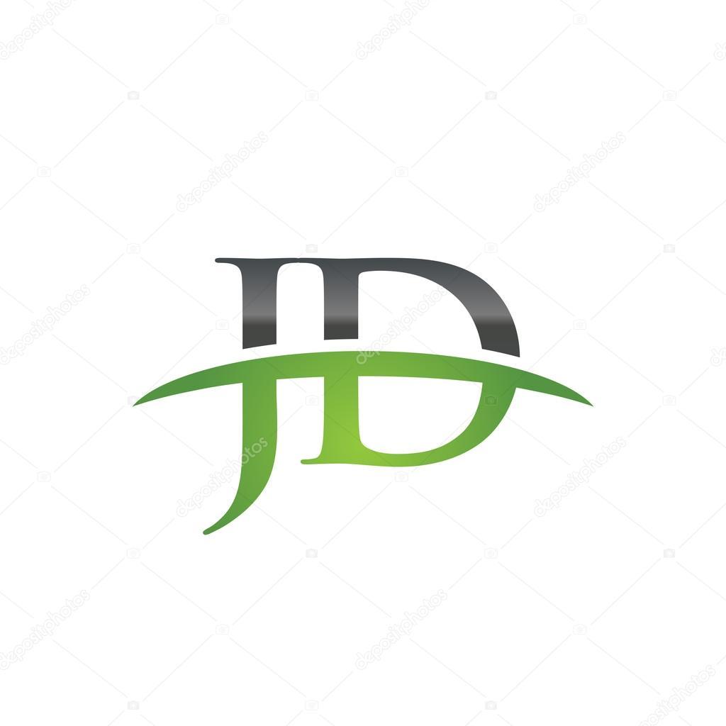 initial letter jd green swoosh logo swoosh logo stock vector c ariefpro 113816314 https depositphotos com 113816314 stock illustration initial letter jd green swoosh html