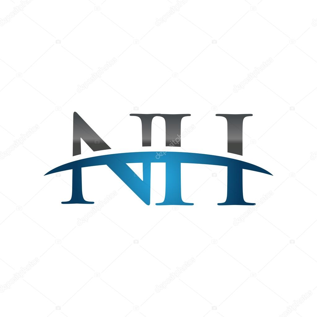 Initial letter NH blue swoosh ...