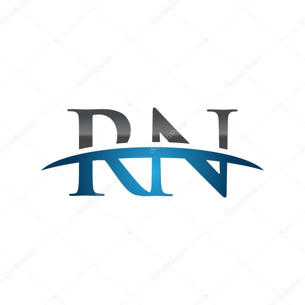 Initial letter rn blue swoosh logo swoosh logo stock vector initial letter rn blue swoosh logo swoosh logo stock vector altavistaventures Images