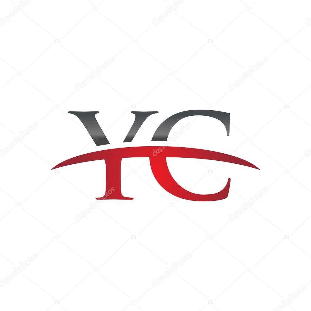 頭文字 Yc red swoosh ロゴ ロゴ...