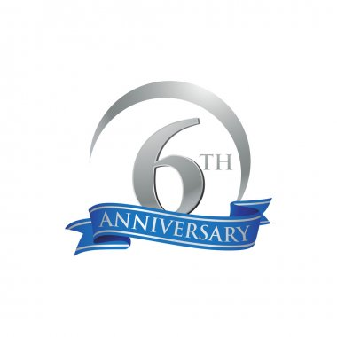 6th anniversary ring logo blue ribbon