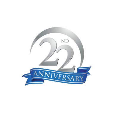 22nd anniversary ring logo blue ribbon