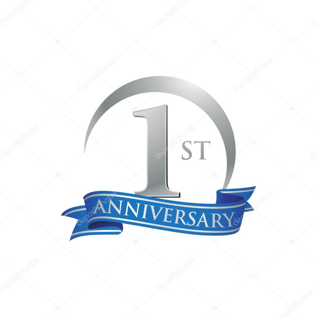 ᐈ happy first anniversary stock images royalty free 1st anniversary download on depositphotos https depositphotos com 86342908 stock illustration 1st anniversary ring logo blue html
