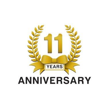11th anniversary golden wreath logo