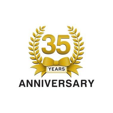 35th anniversary golden wreath logo