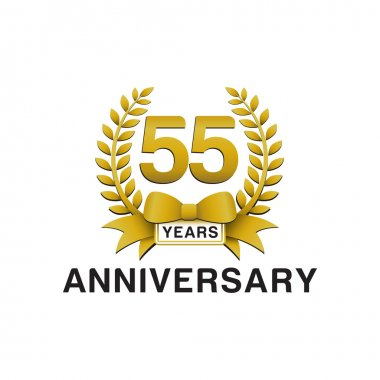 55th anniversary golden wreath logo
