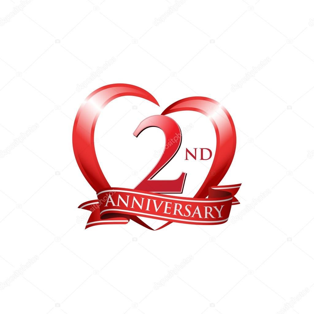 2nd Anniversary Logo Red Heart