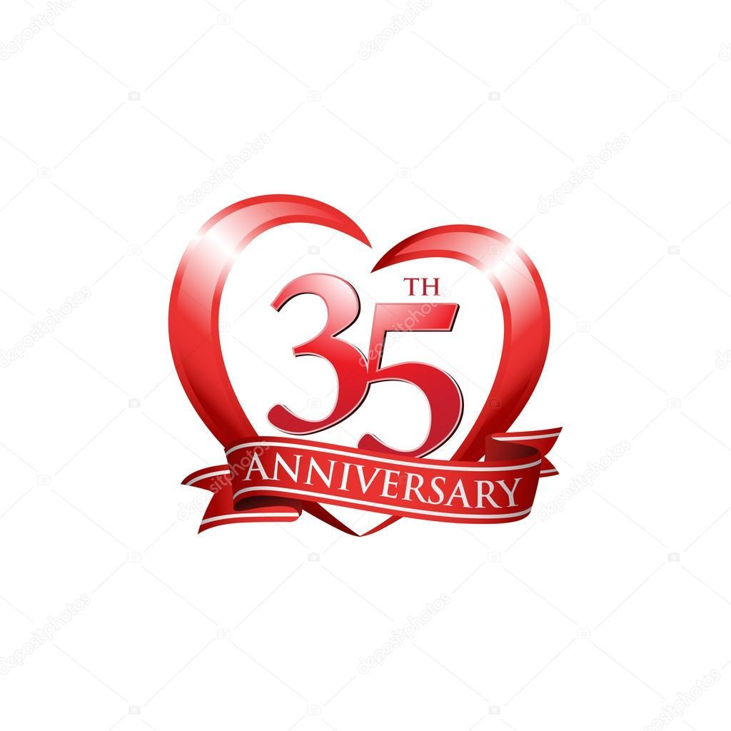 Year Anniversary Logo Red Design