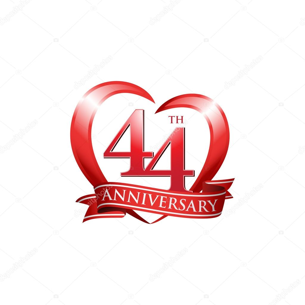44th anniversary logo red heart stock vector ariefpro 86351672 44th anniversary logo red heart stock vector biocorpaavc Gallery