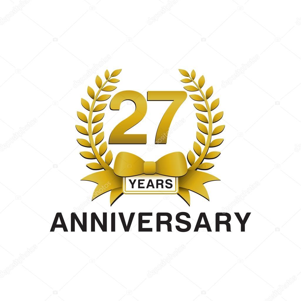 27 aniversario guirnalda de oro la insignia — Archivo ...