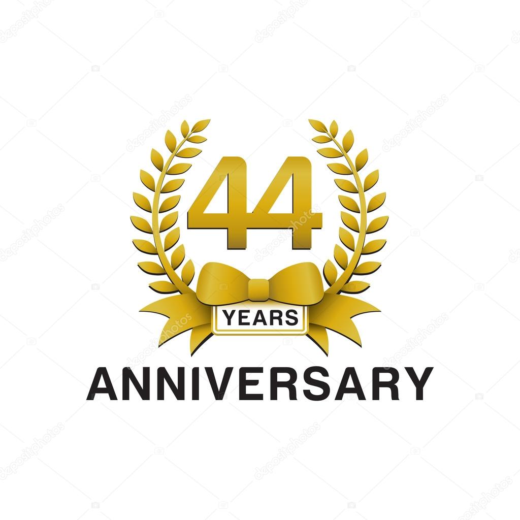 44th anniversary golden wreath logo stock vector ariefpro 44th anniversary golden wreath logo stock vector biocorpaavc Gallery