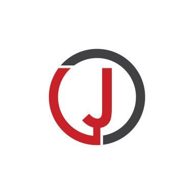 J initial circle company or JO OJ logo red