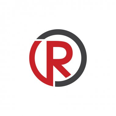 R initial circle company or RO OR logo red