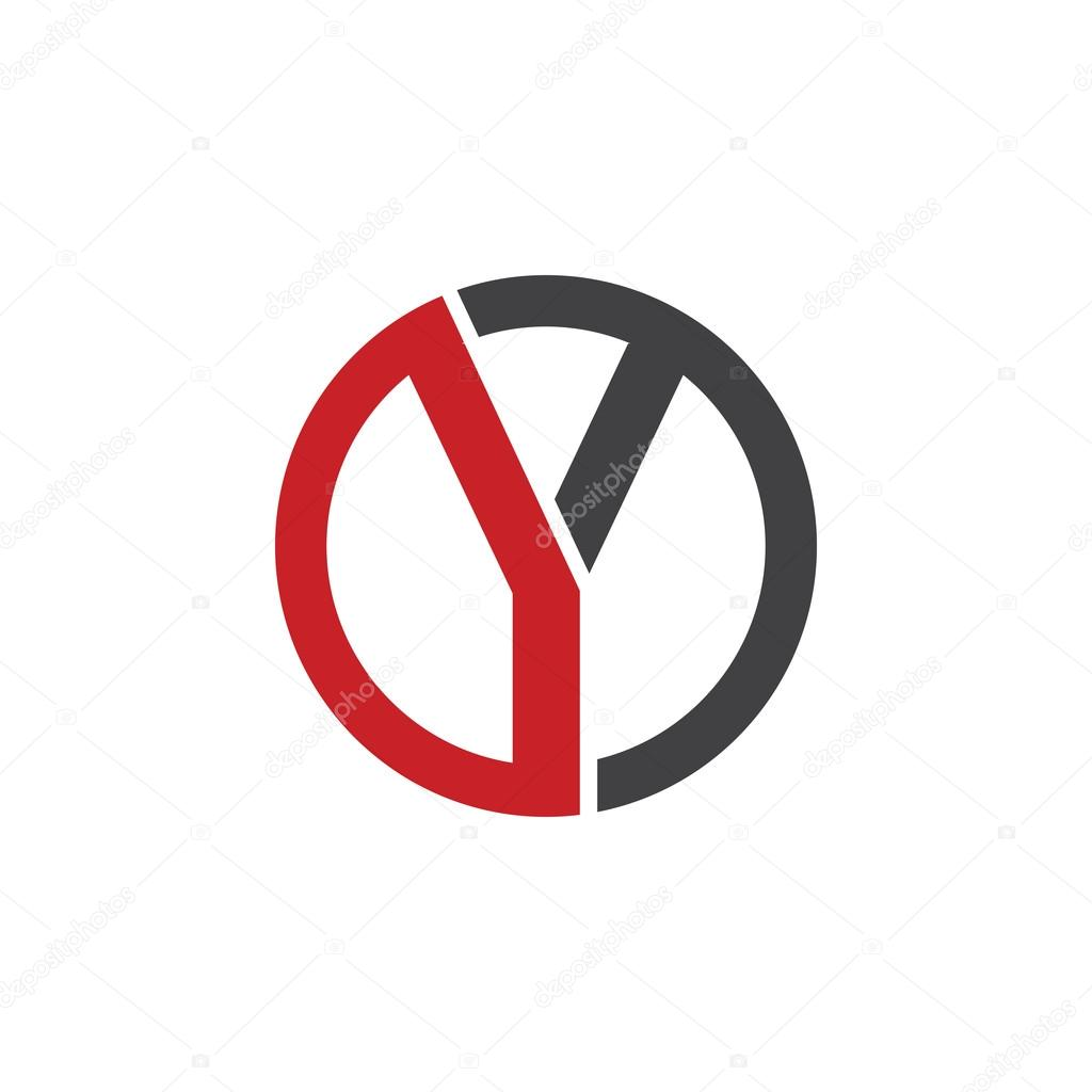 Y initial circle company or yo oy logo red stock vector y initial circle company or yo oy logo red stock vector buycottarizona Images