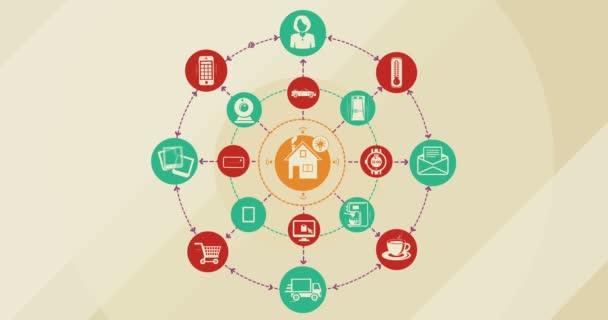 Internet věcí a konceptu Smart domů. 4k