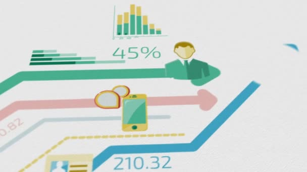 Business Background With Elements Of Infographics