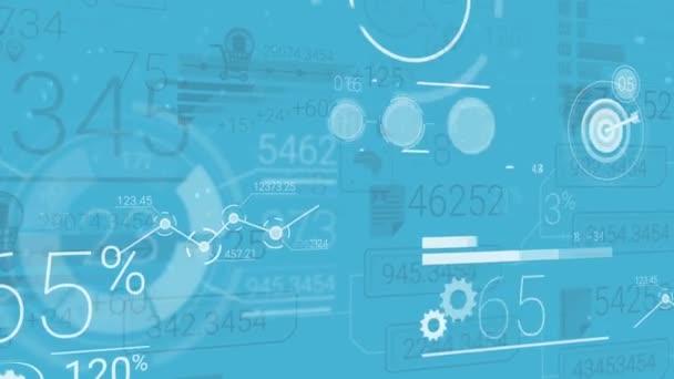 blauer Unternehmenshintergrund mit abstrakten Elementen der Infografik