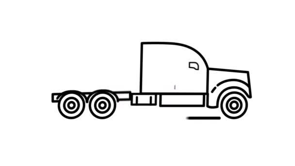 Liniensymbol für Traktoren auf dem Alpha-Kanal