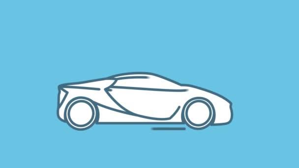 Sport autó vonal ikon az Alpha Channel