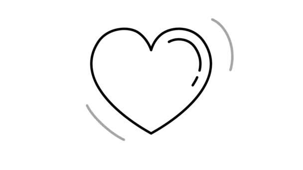 Ikona čáry srdce na alfa kanálu